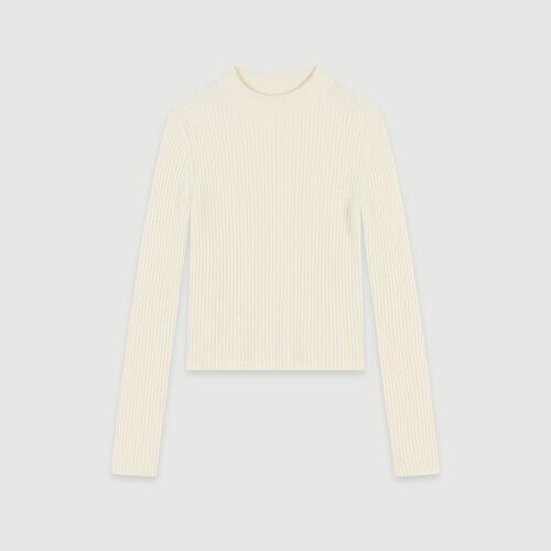 Ribbed turtleneck sweater : Pullovers & Cardigans color Ecru