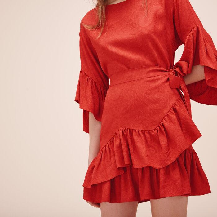 Short dress with frills - Tout Voir - MAJE