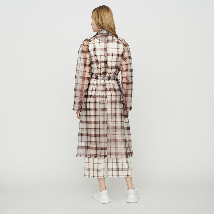 Transparent checkered windproof jacket : Coats & Jackets color CARREAUX