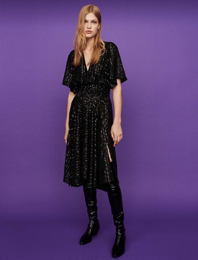 Sequin smock dress -  - MAJE