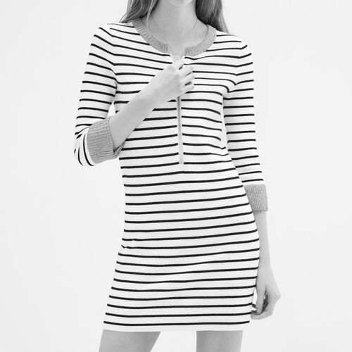 Breton knitted dress : Dresses color Ecru