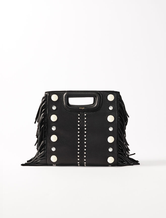 Leather M bag with studs - M bags - MAJE