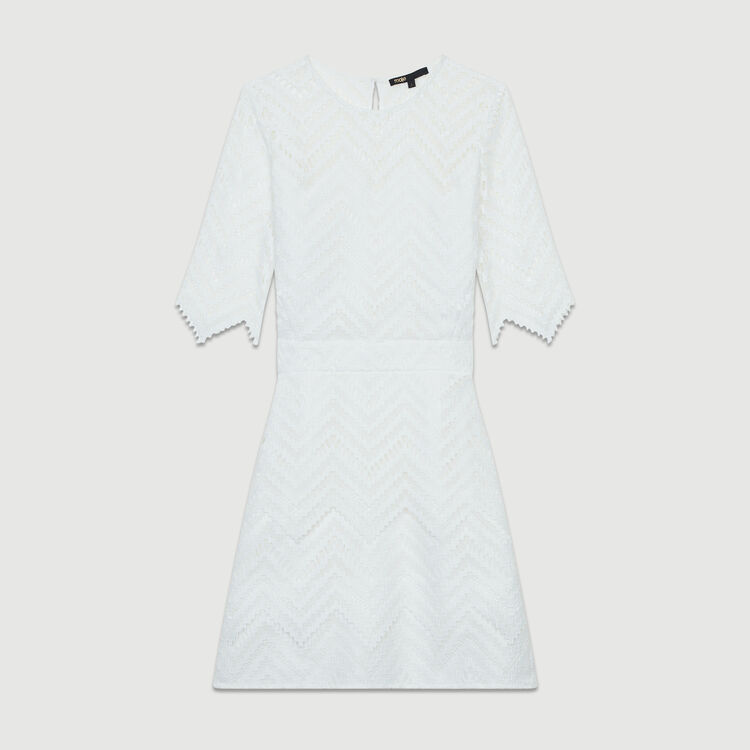 Straight lace dress : New Collection color White