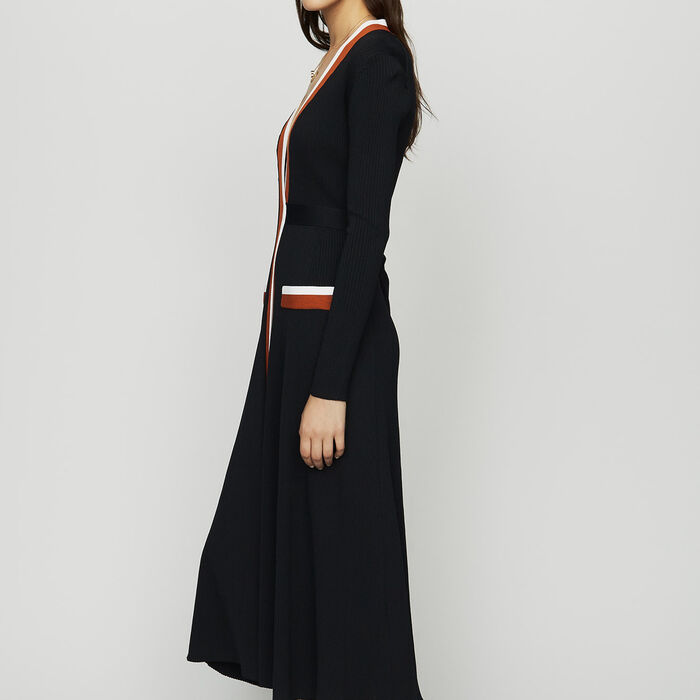Wrap knit dress : See all color Black 210