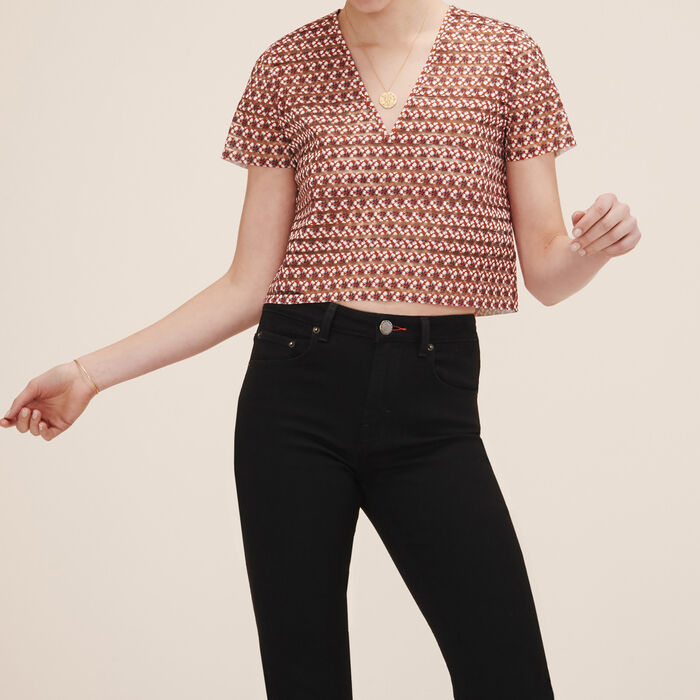 Top with elasticated bands -  - MAJE