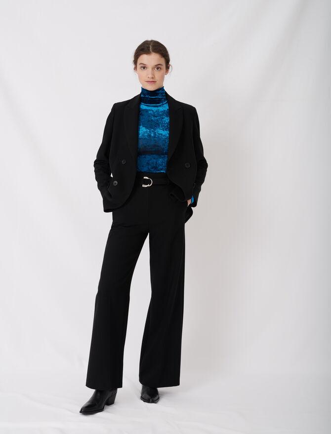 Pantalon large avec ceinture - Trousers & Jeans - MAJE