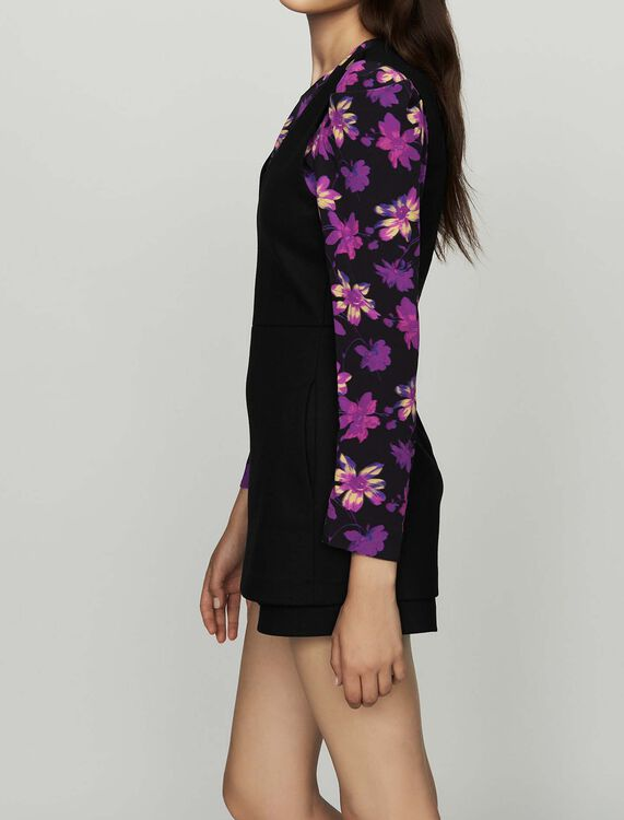 Sleeveless playsuit : New Collection color Black 210