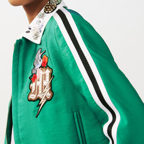 Cropped jacket : Jackets color Green