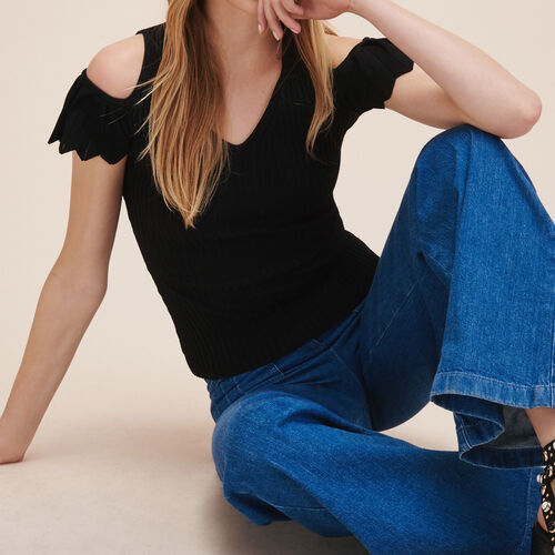 Stretch knit jumper : See all color Black 210