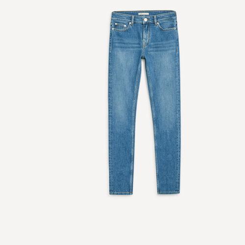 High-waist slim-fit jeans : See all color Denim