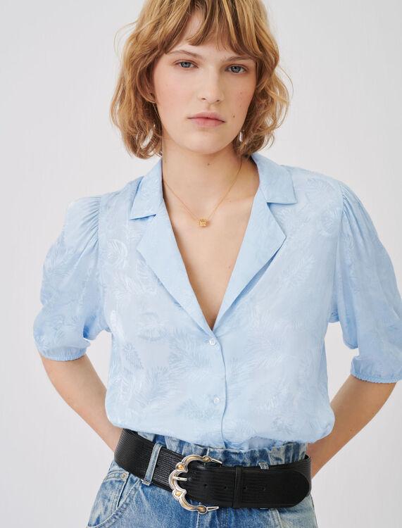 Flowing jacquard shirt - Tops & Shirts - MAJE