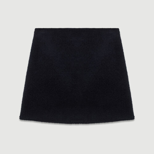 Short alpaca skirt : Skirts & Shorts color Navy