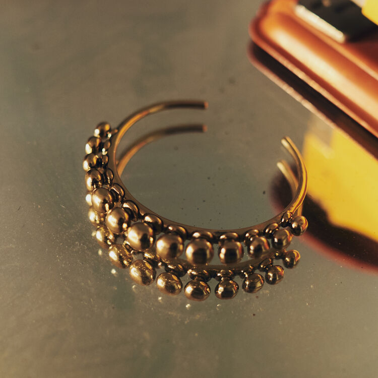 "Cuff ""Arty"" : Jewelry color GOLD"