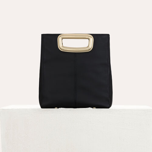 M Mini Skin bag in leather : M bag color Black 210