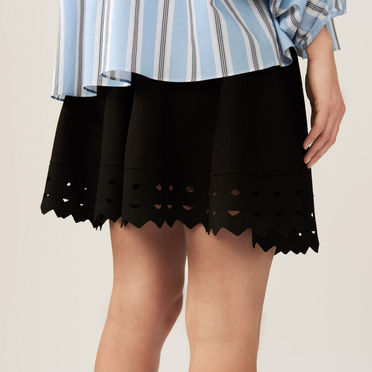 Sheer effect knit skirt : Skirts & Shorts color Black 210