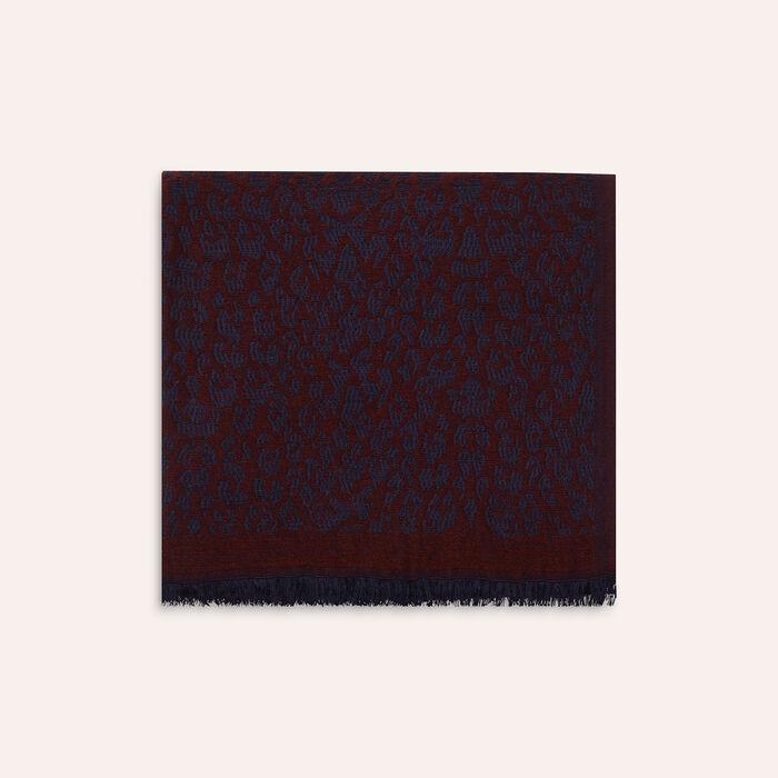 Leopard print scarf : Accessoires color BORDEAUX