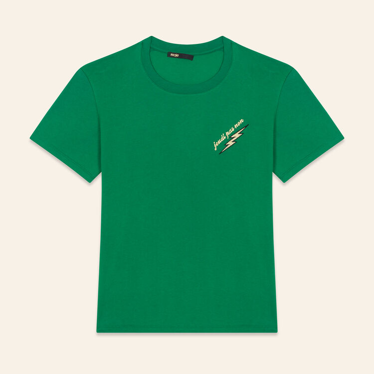 Embroidered T-shirt Thursday : T-shirts color GREEN