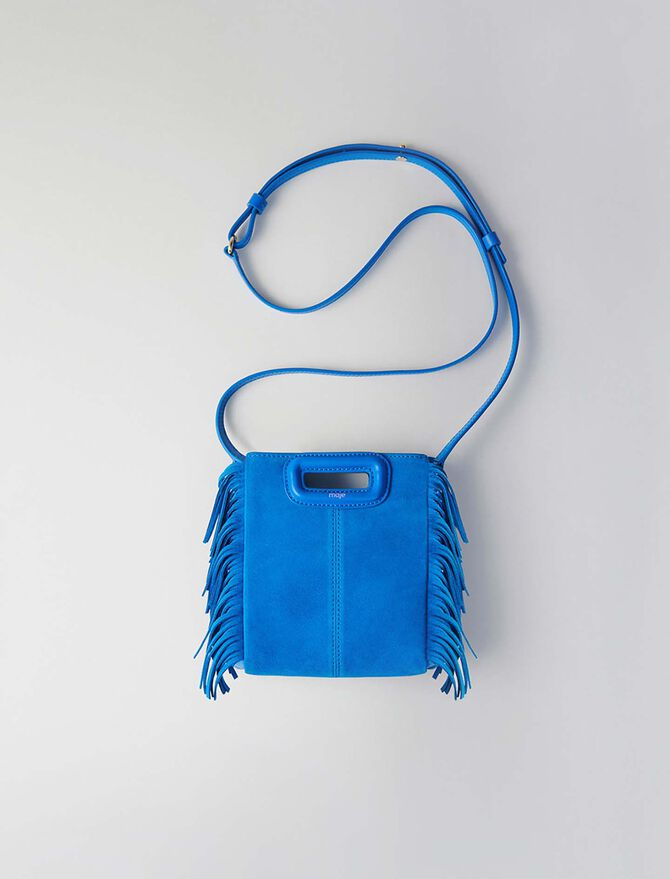 Mini two-toned suede M bag with chain - M Mini - MAJE