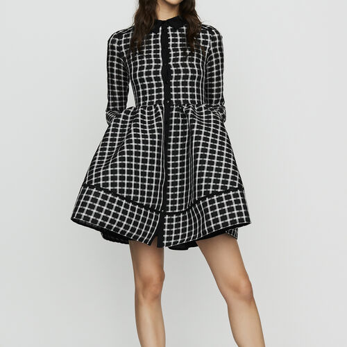 Plaid shirt dress : Ready to wear color CARREAUX