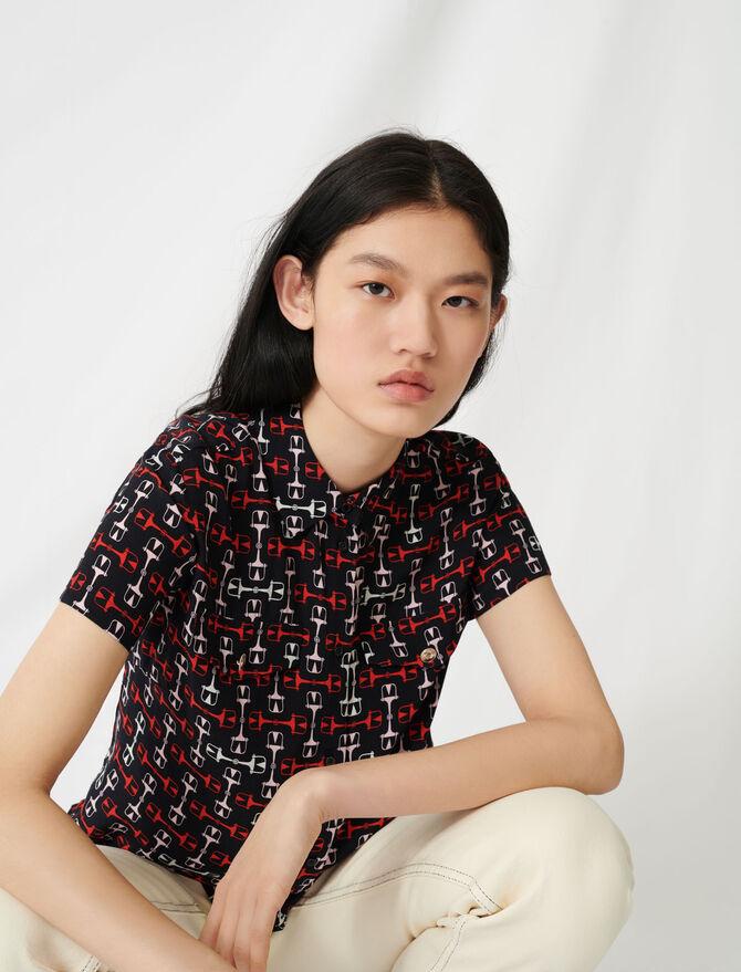 Printed short-sleeved shirt - Tops & Shirts - MAJE