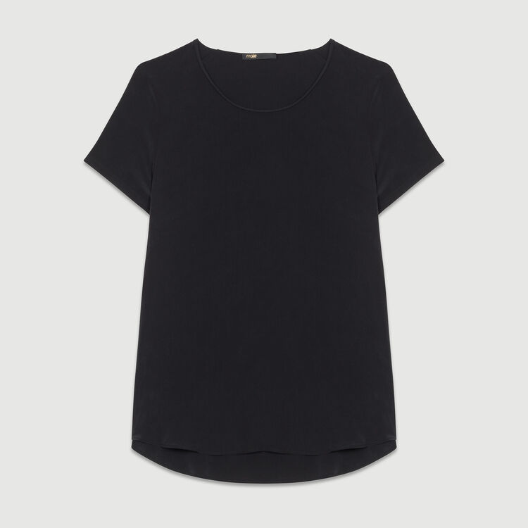 Silk top with intricate detailing : Tops color Black 210
