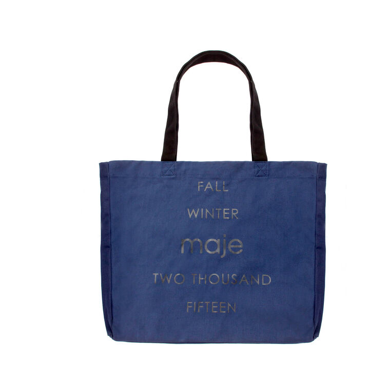 Cotton shopping bag : Gift with purchase color Blue