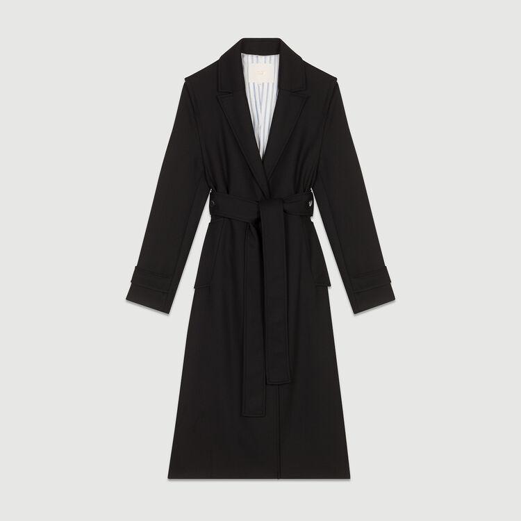 Trench coat with detachable belt : Coats color Black 210