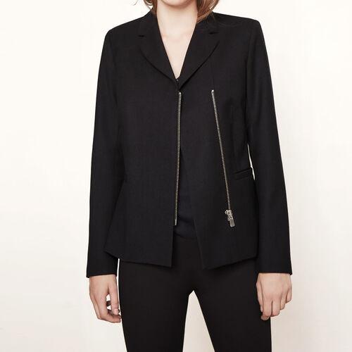 Zip tailored jacket : Blazers & Jackets color Navy