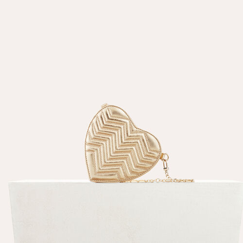 Quilted leather heart-shaped saddle bag - Star bags - MAJE