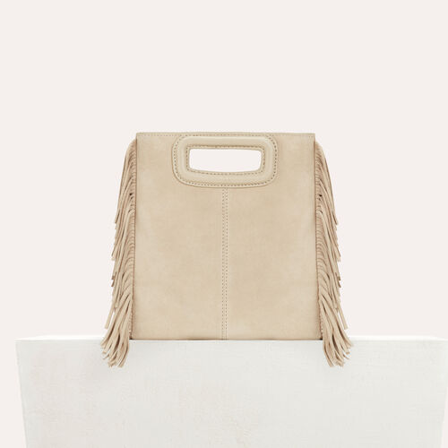 M bag in suede : M bags color Beige