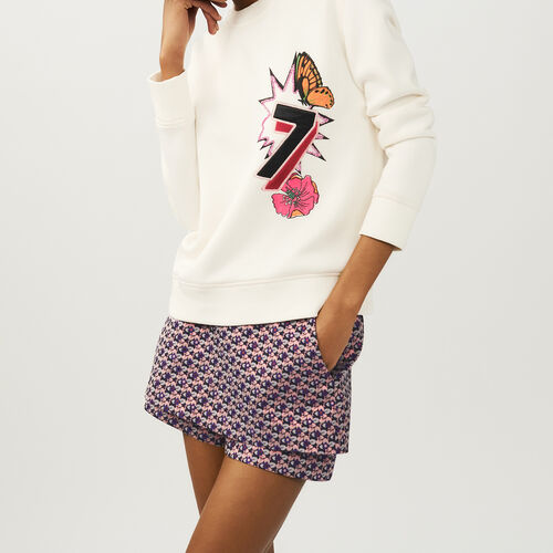 Quilted print sweatshirt : T-Shirts color ECRU