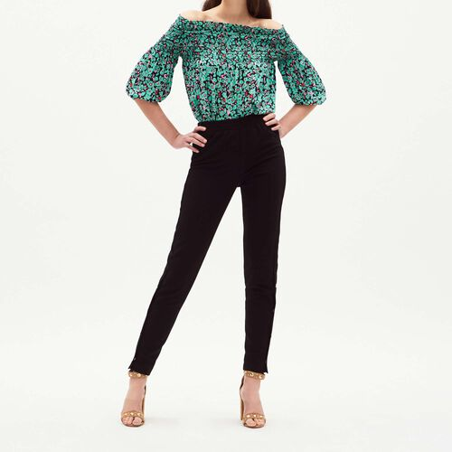 Trousers with elasticated waist : Trousers & Jeans color Black 210