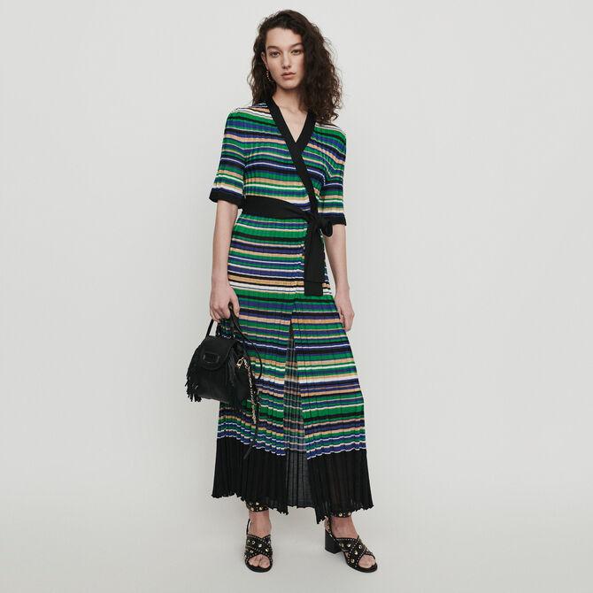 Long dress in striped knit - staff private sale - MAJE
