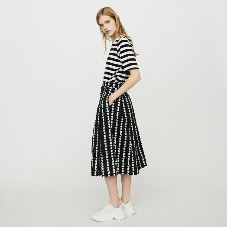 Long skirt with daisy print : Skirts & Shorts color Printed