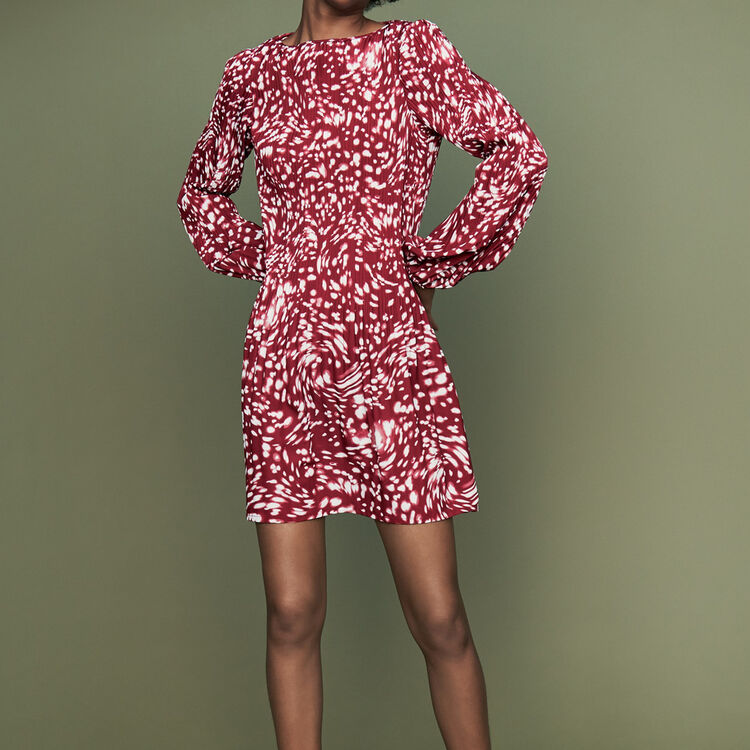 Pleated dress in novelty print : Dresses color PRINTED
