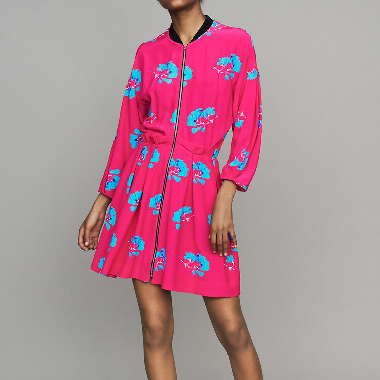 Dress with trompe-l'oeil effect : Dresses color PRINTED