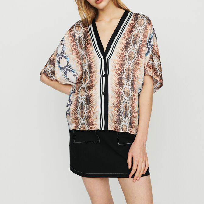 Shirt with python print - Tops - MAJE