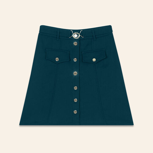 A-line skirt with belt : Skirts & Shorts color Green