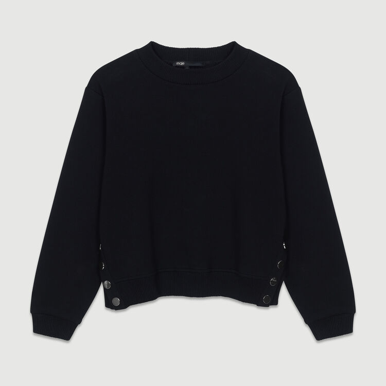 Sweatshirt with back embroidery : New Collection color Black 210