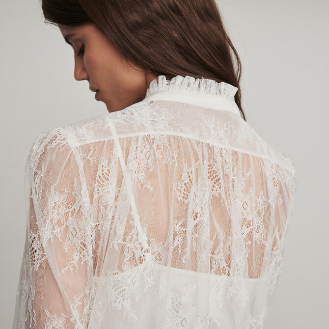 Smocked lace top - staff private sale 20 - MAJE