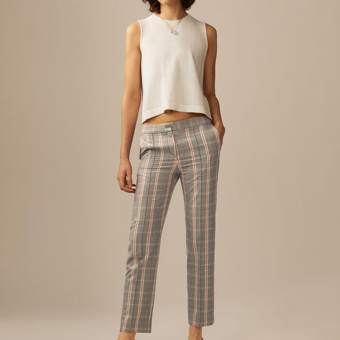 Sleeveless bow back sweater : Knitwear color Ecru