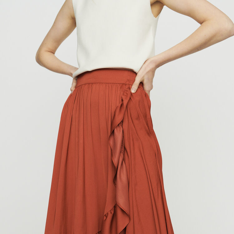 Long skirt : Skirts & Shorts color Terracota
