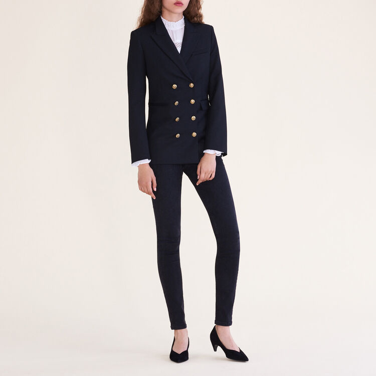 Eight-button double-breasted jacket : Jackets & Blazers color Black 210