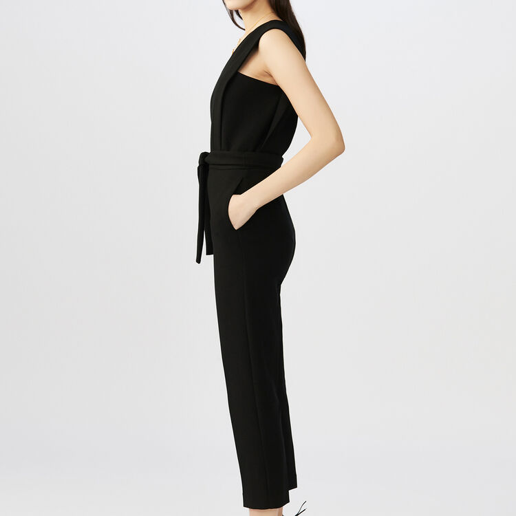 sleeveless Jumpsuit : Trousers color Black 210