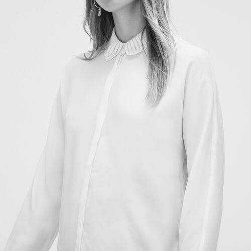 Silk blend shirt : See all color WHITE