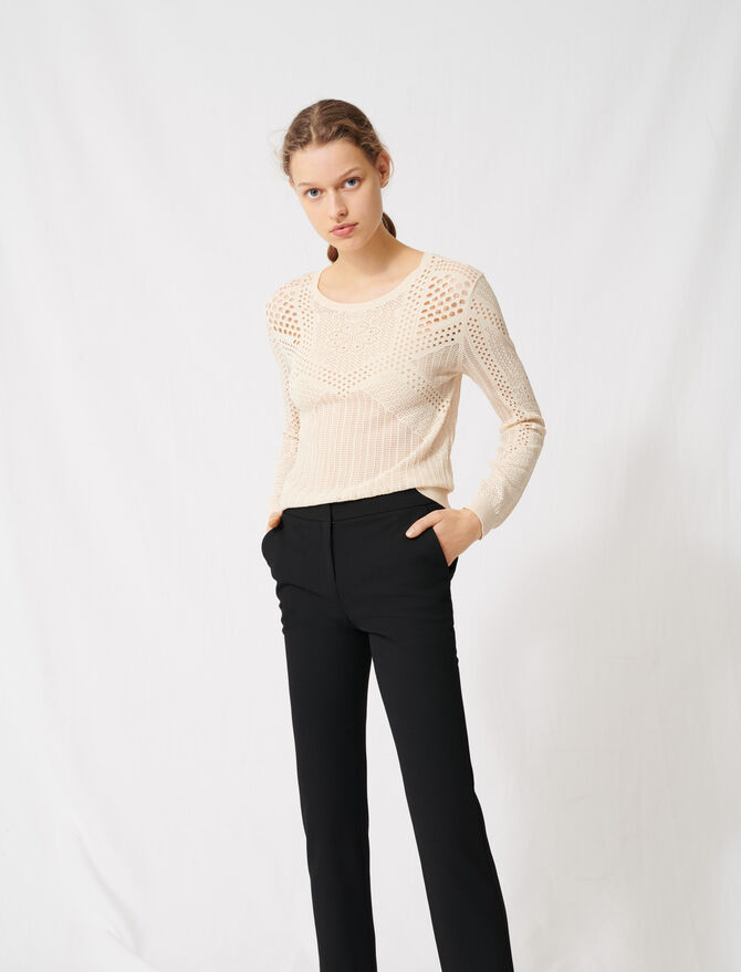 !Lightweight decorative knit jumper -  - MAJE