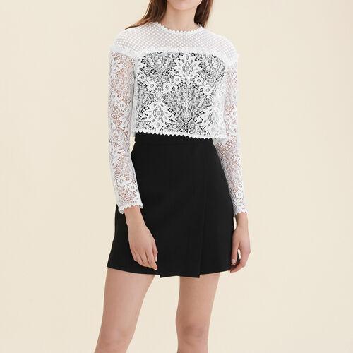 Mixed fabric dress - Dresses - MAJE