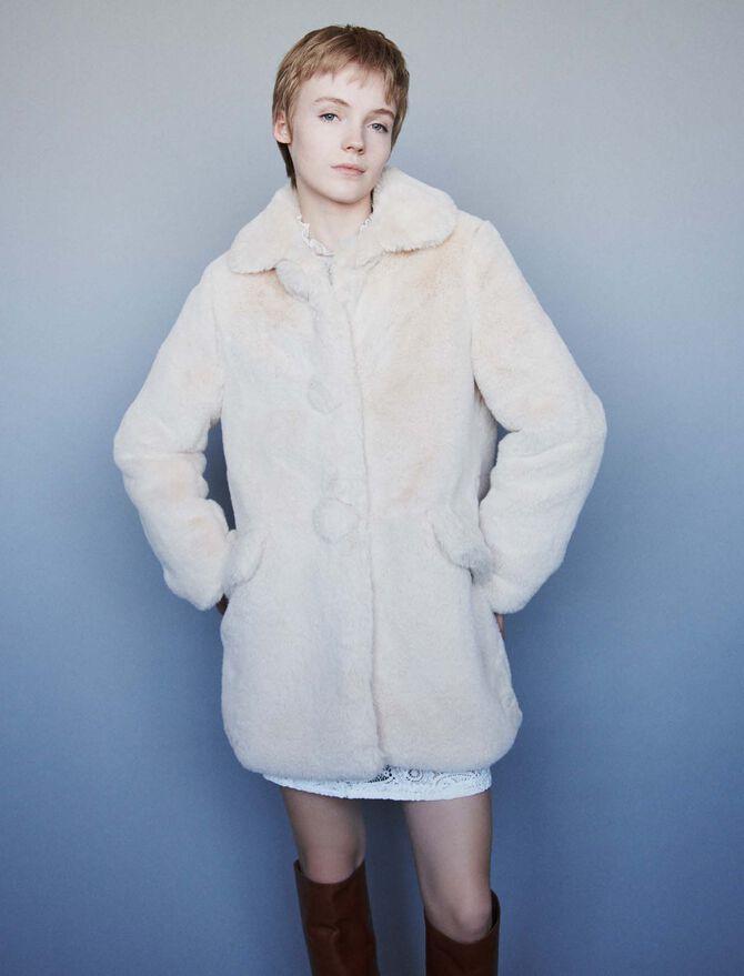 Faux fur coat - Best Sellers - MAJE