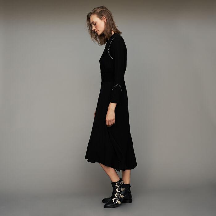 Long sleeve, studded dress : Dresses color