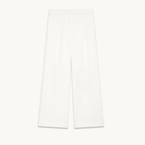 Wide trousers with darts - null - MAJE